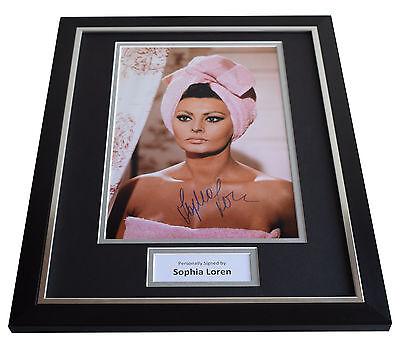 Sophia Loren SIGNED FRAMED Photo Autograph 16x12 display Film Movie AFTAL & COA