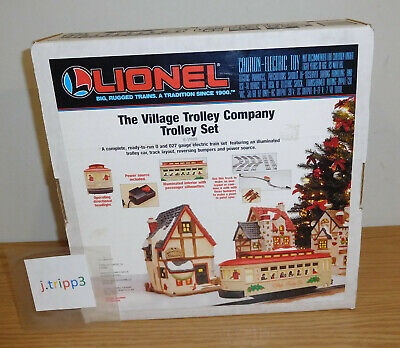LIONEL 6-11809 CHRISTMAS VILLAGE MOTORIZED TROLLEY SET TRAIN O-27 TRACK GAUGE