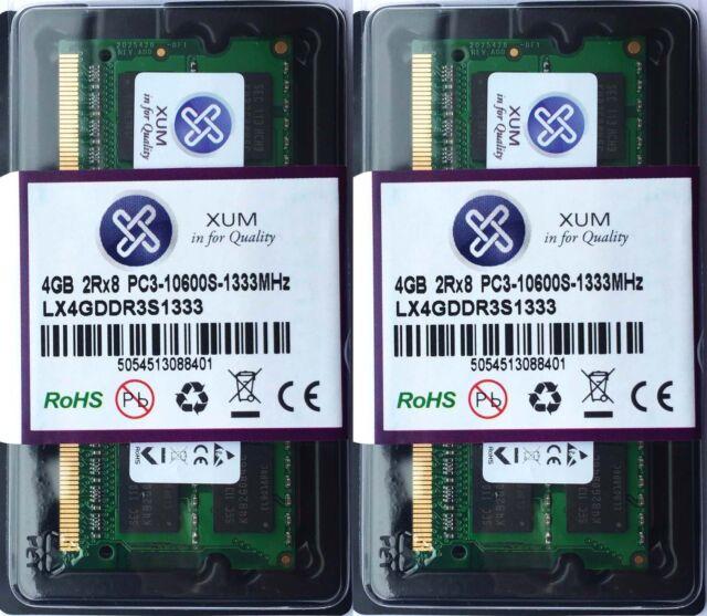 NEW Xum 8GB (2x4GB) DDR3-1333MHz PC3-10600 Non-ECC 204P Laptop SoDIMM Memory RAM