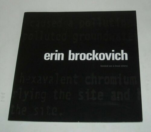 1999 ERIN BROCKOVICH PROMO MOVIE PRESSBOOK JULIA ROBERTS TRUE STORY BIO FILM