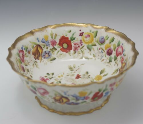 "ANTIQUE HAMMERSLEY ENGLAND BONE CHINA HAND PAINTED 9"" BOWL FOOTED"