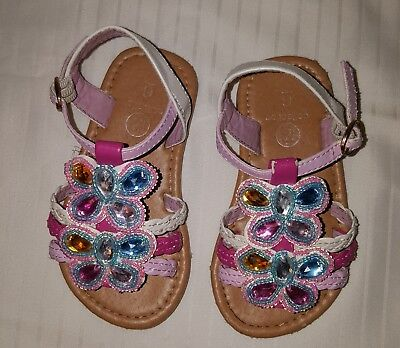 (B Collection - Toddler fancy sandal, Multicolor - size 6)