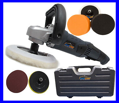 PROFESSIONAL DELUXE CAR POLISHER BUFFER WITH 7 HEADS -