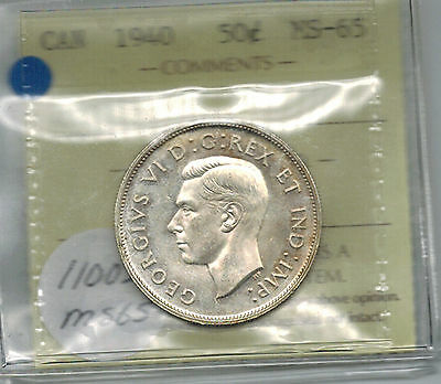 Click now to see the BUY IT NOW Price! CANADA 1940 50 CENTS  ICCS MS 65  GEM UNC