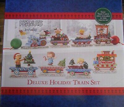 Jim Shore Peanuts Deluxe 8 Piece Train Car SET 4062623 NEW Charlie Sally Linus