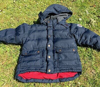 Boys Gap Winter Coat Age 5-6 years Authentic Great Condition Blue with Red liner