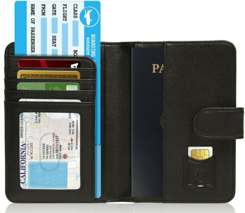 Brand New Passport Holder Cover Travel Wallet For Men & Women RFID Blocking