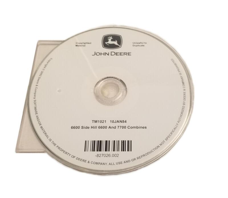 John Deere 6600 Side Hill/6600/7700 Combine Technical Manual CD - TM1021CD
