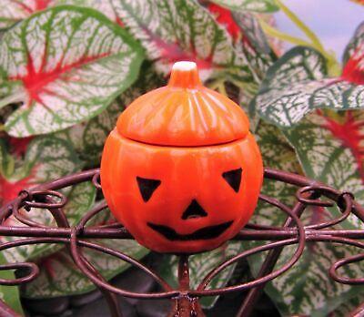 Miniature Dollhouse Fairy Garden Halloween Pumpkin Cookie Jar - Buy 3 Save $5