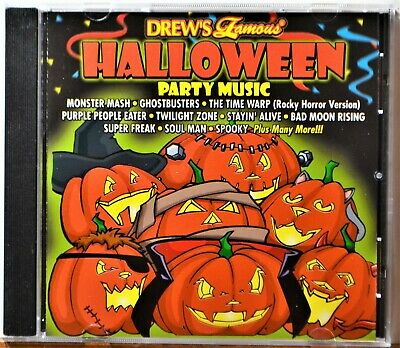 Drew's Famous Halloween Party Music Cd (CD Drew's Famous Halloween Party Music Time Warp TwilightZone Horror Spooky)