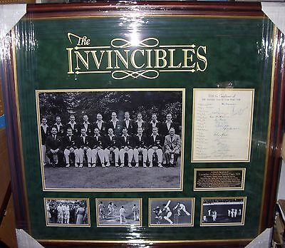 "Australian Cricket ""Invincibles"" 1948 Signed Display  AFTAL"