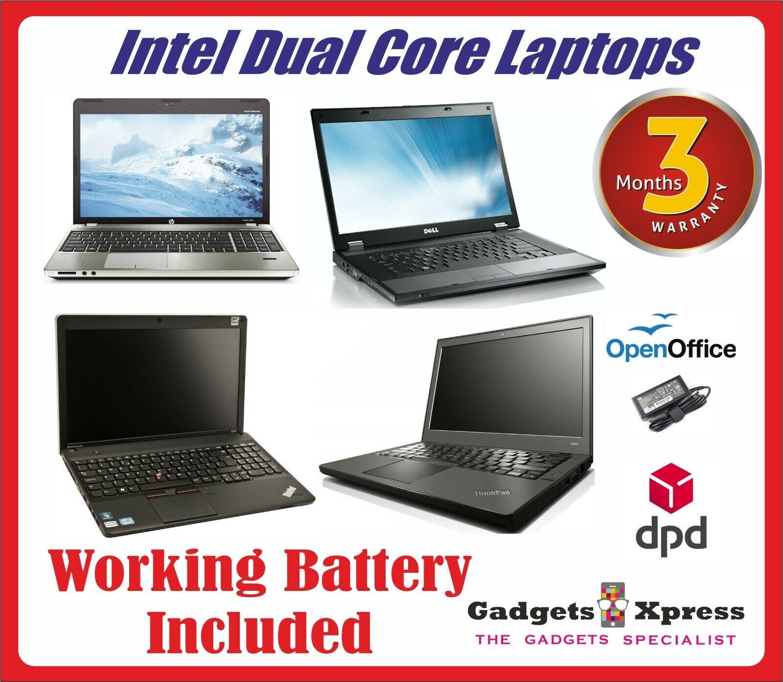 Laptop Windows - CHEAP Laptop Windows 10 Dual Core Office Warranty WIRELESS 4GB Ram 120GB HDD