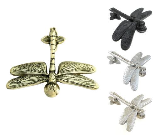 Brass, Iron, Chrome & Nickel Dragonfly Door Knocker - vintage animal knockers