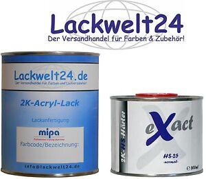 2K-Lack, RAL (9005) Tiefschwarz, SEIDENMATT, inkl. Härter, 1,5 Liter-Set, #LW10