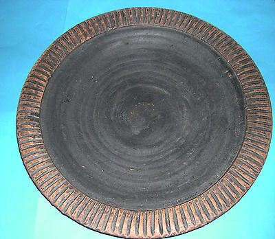 Studio Pottery - Attractive Large Low Sided (41.5cm Dia) Banquet Dish -Backstamp