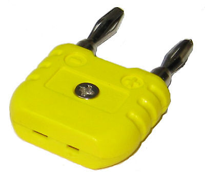 K-type Thermocouple Adaptor From Mini K Type To Round Banana Plug Thermometer