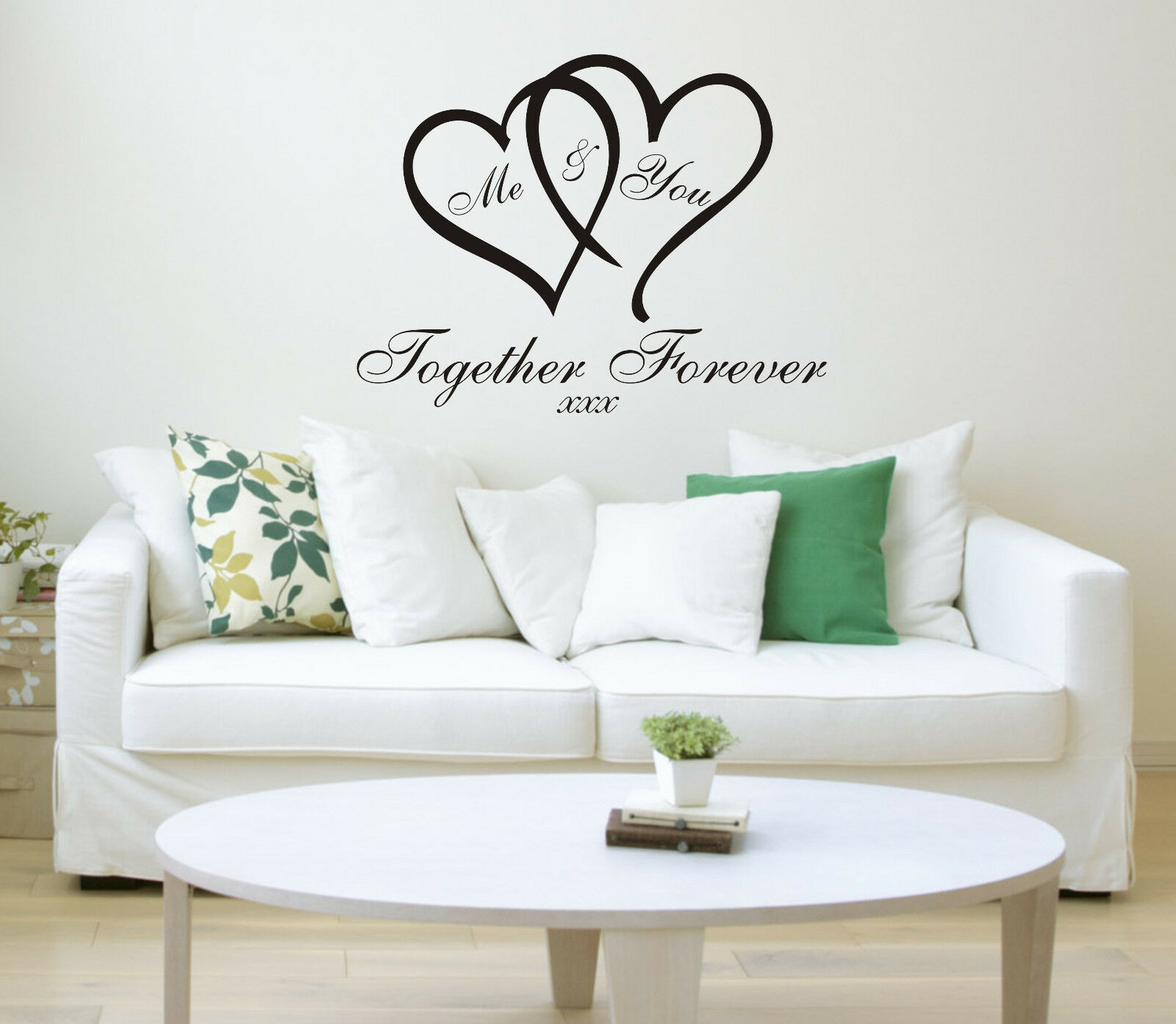 Home Decoration - Me & You Love Heart Quote Wall Sticker Art Home Decal wallart Family Bedroom
