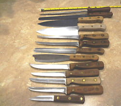 Vintage Chicago Cutlery Knives 13-Piece Set  - Made in USA