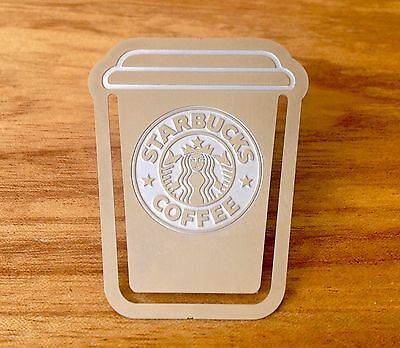 Coffee Cup LUCKY BOOKMARK (Metal Clip) with Mini Card