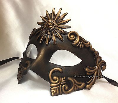 Black Gold Silver For man midnight Costume Prom Party Halloween Masquerade Mask - Halloween Costumes For Black Man
