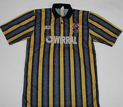 MATCH WORN 1993-1995 TRANMERE ROVERS RS AWAY FOOTBALL SHIRT (SIZE L) image