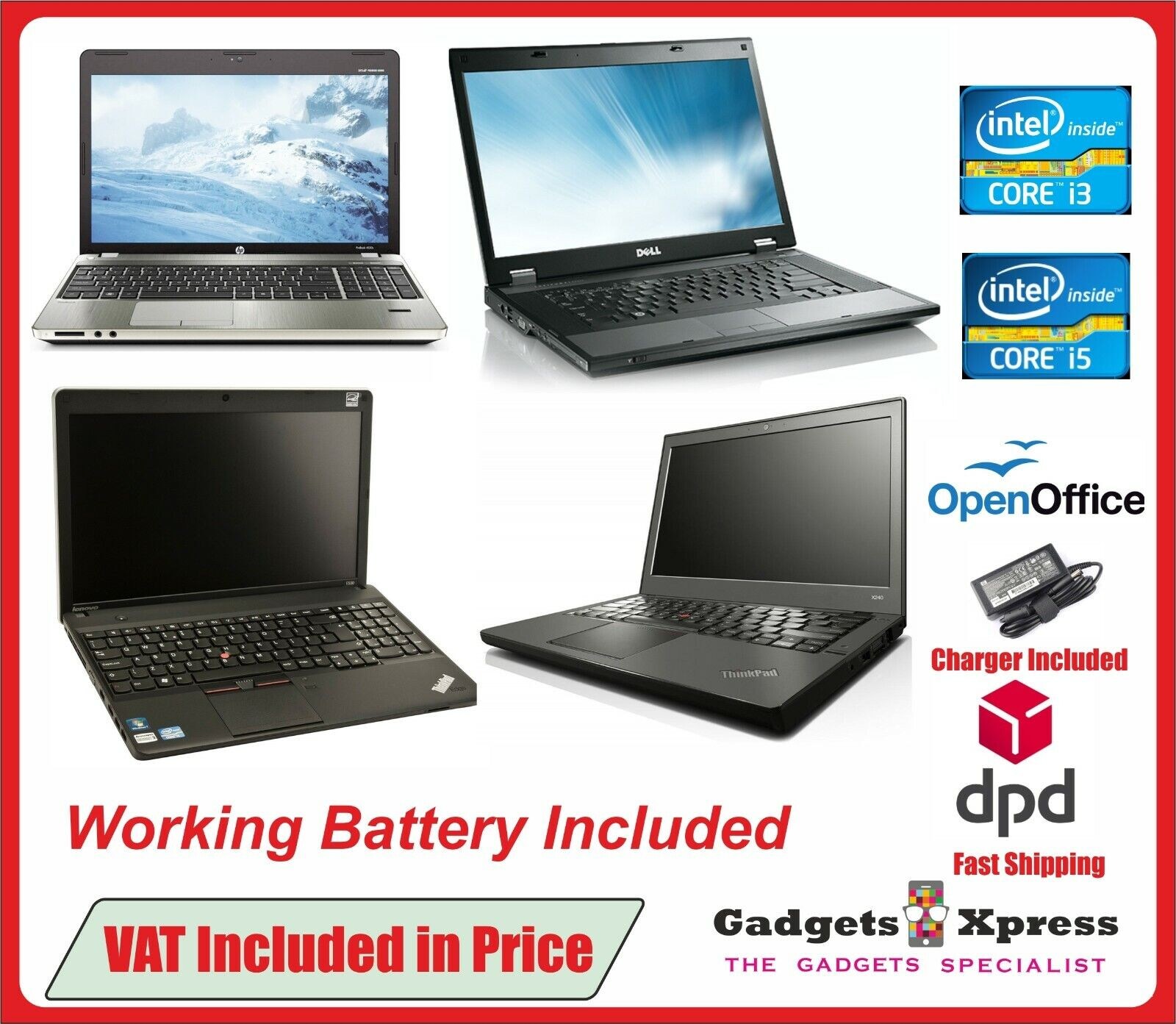 Laptop Windows - CHEAP FAST INTEL CORE Core2 Duo i3 i5 LAPTOP WINDOWS 10 4/8GB RAM HDD/SSD WiFi