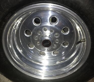 """4 x Rims and tyres 8"""" x 15"""" To suit ford, valiant & holden"""