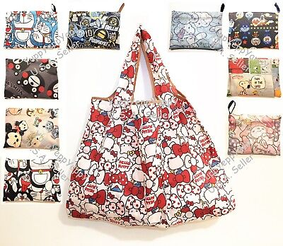 Cute Reusable Grocery Bags (Cute Cartoon Foldable Reusable Grocery Shopping Tote Bag)