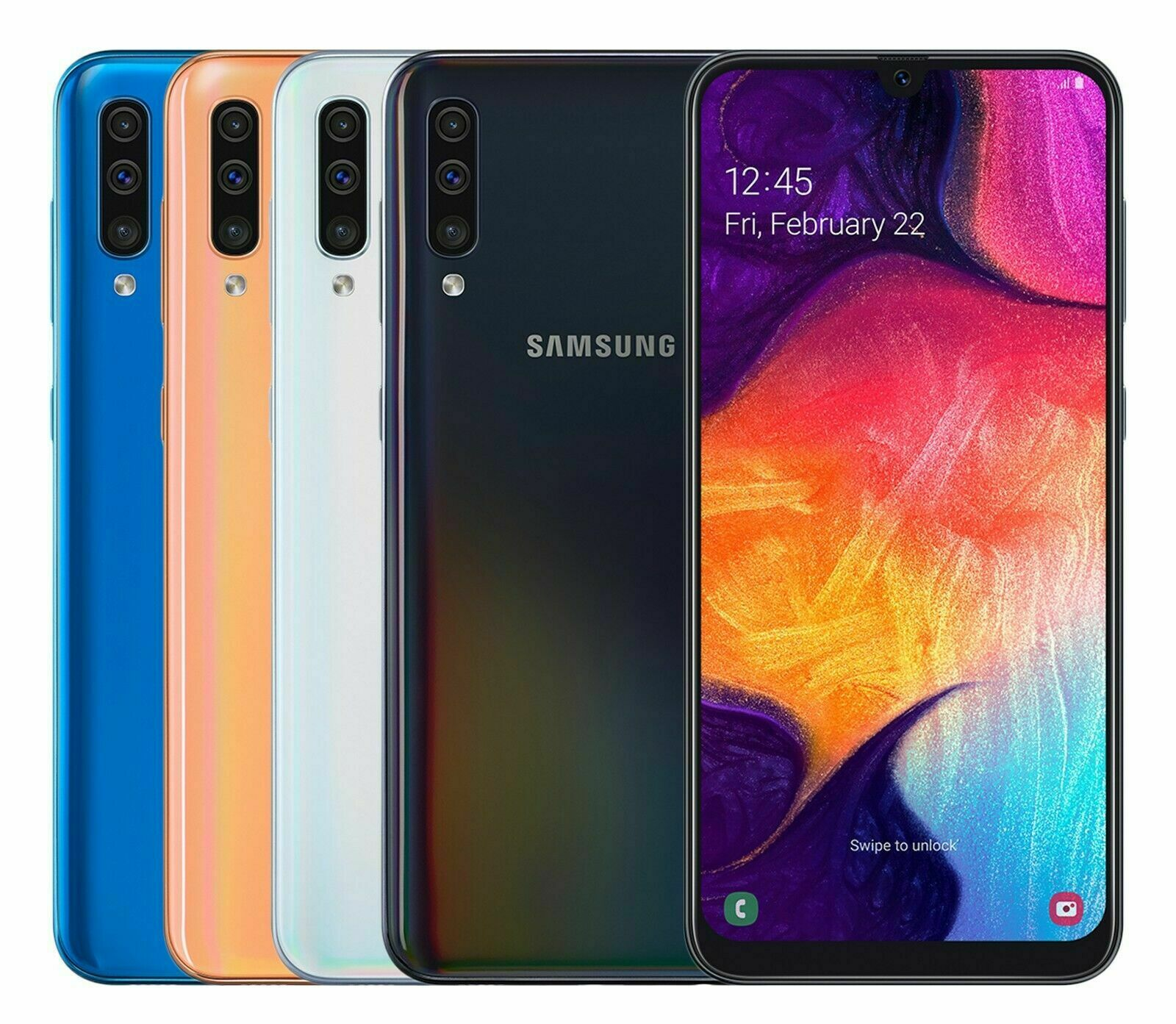 Android Phone - Open BOX Samsung Galaxy A50 SM-A505F/DS 128GB LTE Unlocked International Model