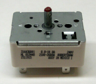 316436001 Surface Burner Infinite Switch Fits Frigidaire Kenmore Tappen