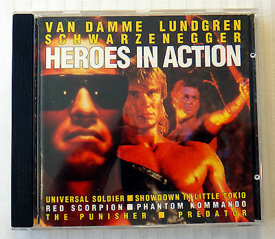 Heroes In Action ~ RARE Movie Soundtrack Music & Score CD ~ Arnold Predator