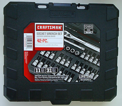 CRAFTSMAN 42 pc 1/4 and 3/8-inch Drive Bit and Torx Bit Socket Wrench Set #34845
