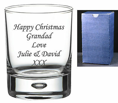 Personalised Whisky Glass Engraved Birthday Wedding Gifts Dad, Grandad, Daddy