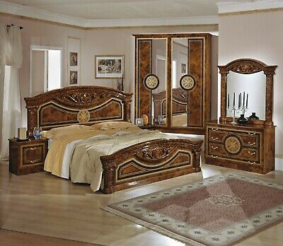 ORIGINAL ROMA HIGH GLOSS ITALIAN BEDROOM SET NEW COLORS AVAILABLE