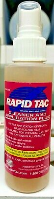 4 Oz. Bottle Of Rapid Tac Cleaner And Application Fluid For Vinyl Graphics