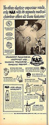 1954 Vintage Ad Kaz Medical Home Electric Vaporizer 072017