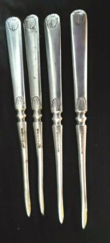 """Antique 1847 Rogers Bros Set of Four Silverplate Nut Picks 5"""""""