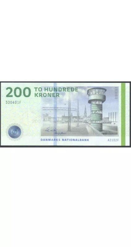 200 Denmark Banknote. 200 Kroner 2016 Series. Danish Kroner Cir  Banknotes.