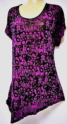 TS top TAKING SHAPE plus sz XXS /12 'In A Whirl' super-soft semi-sheer light NWT