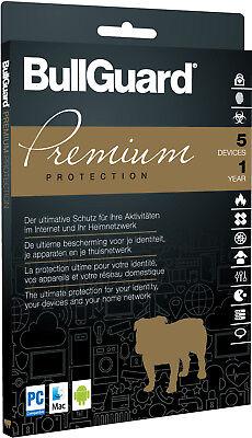 Bullguard PREMIUM PROTECTION 2019 Multidevice 5 PC 1 Jahr - TOP!