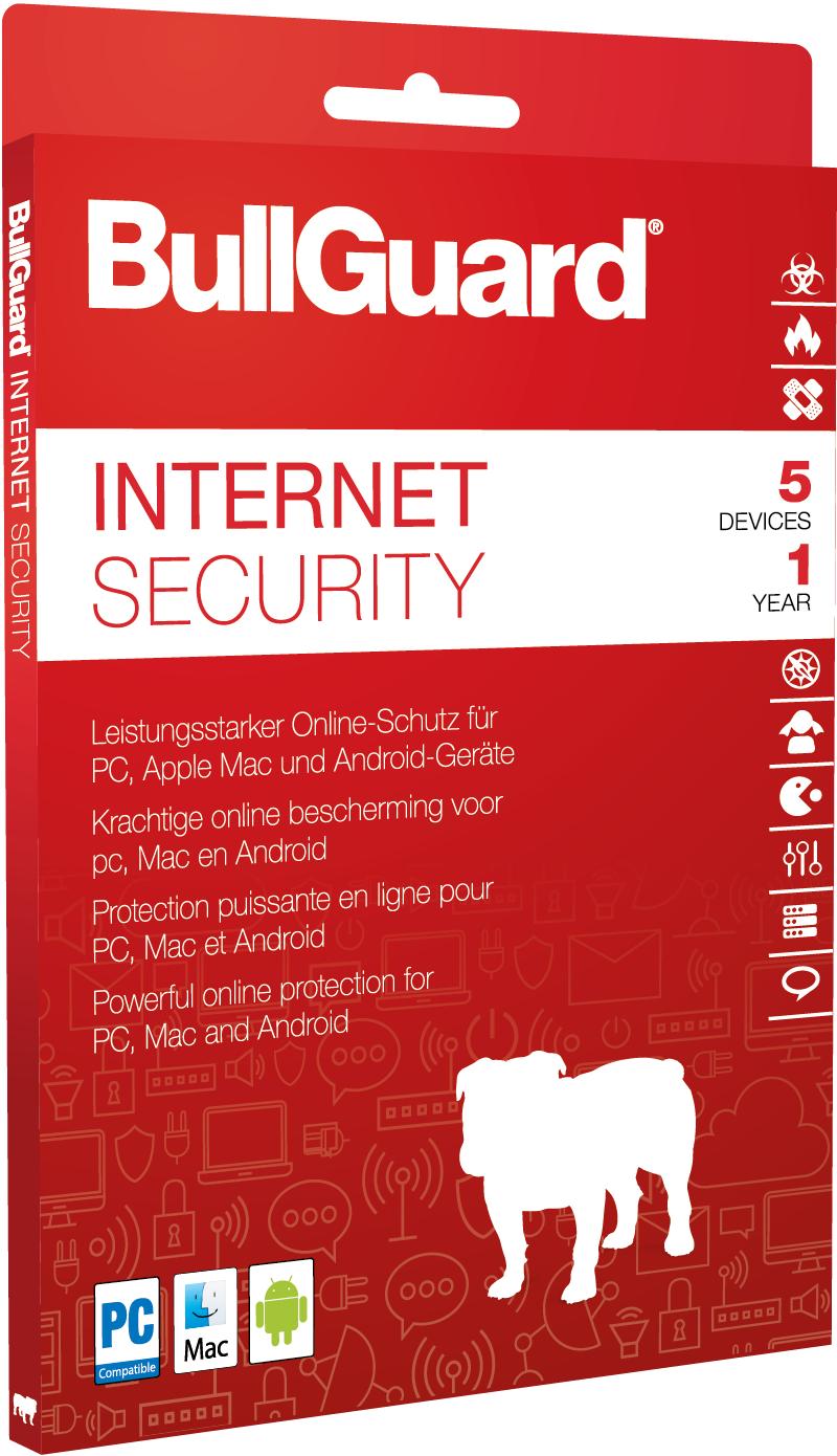 Bullguard Internet Security 5 pc 1 Jahr 2019 verschlüsseltes Cloud-Backup