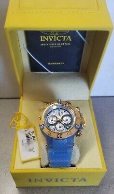 Invicta Womens Mechanical Subaqua Noma III Blue Silicon Strap Watch