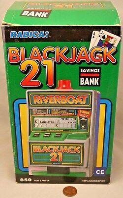 Radica Riverboat Blackjack 21 Electronic Game Savings Bank Works