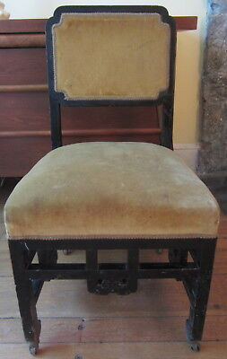 Antique ANGLO-JAPANESE Side Chair in the Manner of E.W. GODWIN
