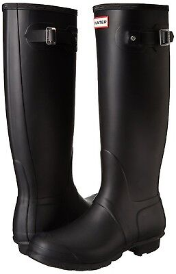 NEW Womens HUNTER Tall Original RAIN Waterproof  BOOTS Black Matte  Size 10
