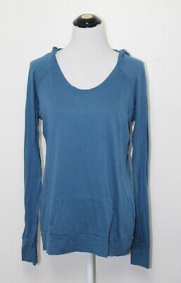 Fabletics Tunic Pullover Hoodie, Womans Size XL Teal With Front Pouch Pocket NEW
