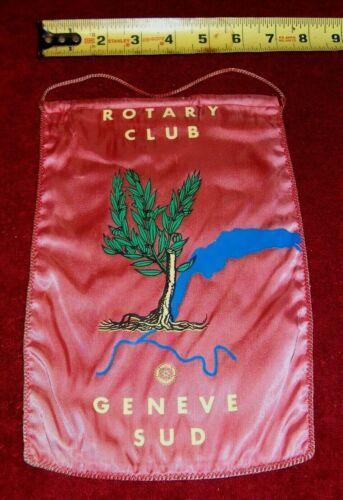VINTAGE Rotary International Club wall banner flag    GENEVE  SUD