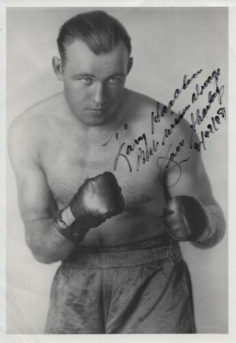 Heavyweight Boxing Champion JACK SHARKEY Signed 5x7 Photo - Save Big!