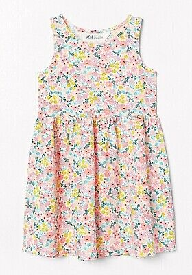 H M Girls Dress w/ Small Wild Flowers Floral Summer Size 8 9 10   - Small Flower Girl Dresses