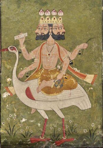 Brahma Art Poster Print. Hinduism Hindu God India